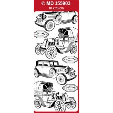Sticker, Double Embossed Oldtimer Cars
