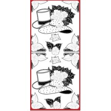 Sticker, Hats and Wedding Bouquet Double Embossed