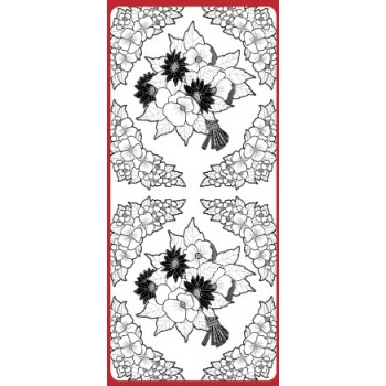 Sticker, Double Embossed Flower Composition Daisy