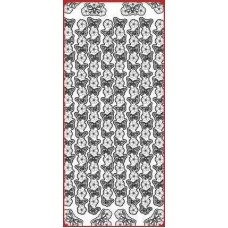 Sticker, Double Embossed Butterfly Blossom Border/Corners