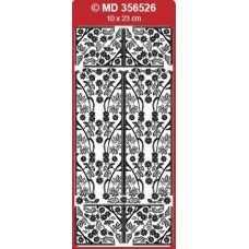 Sticker, Double Embossed Blossom Design Corners/Borders