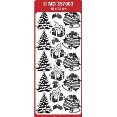 Sticker, Double Embossed Various Christmas Designs