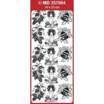 Sticker, Double Embossed Various Christmas Designs 2