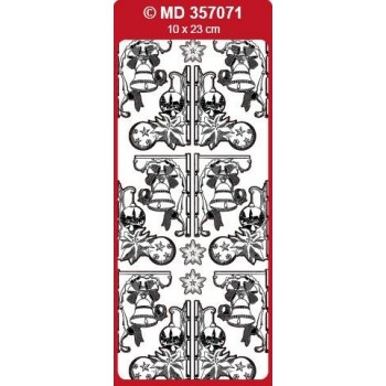 Sticker, Double Embossed Christmas Designs Corners