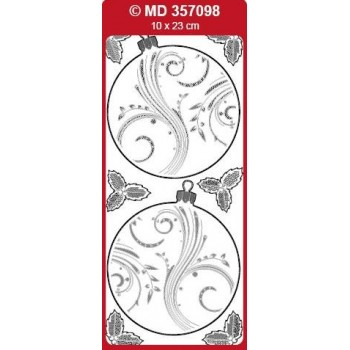 Sticker, Christmas Ornament Double Embossed Sticker