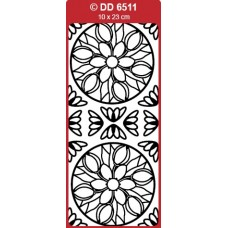 Tulips Medallion (Mandala) Outline Sticker