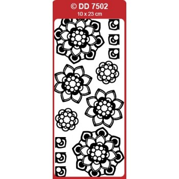 3D Flower Medallion (Mandala) Outline Sticker