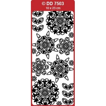 3D Snowflake Medallion (Mandala) Outline Sticker