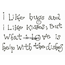 Bugs and Kisses Stamp