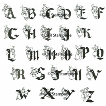 Angel Alphabet Stamp