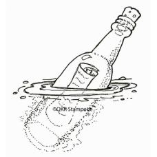 Wish in a Bottle Stamp