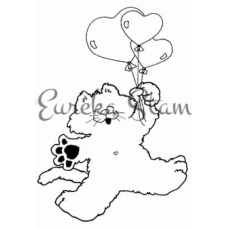 Cat with Balloons Stamp