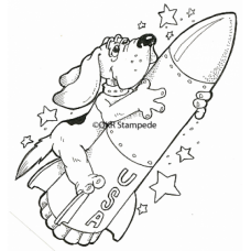 Rocket Dog Stamp