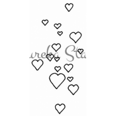 Floating Hearts Stamp