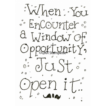 Window of Opportunity Stamp