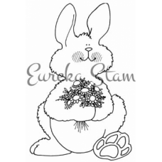 Bunny with Flowers Stamp
