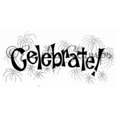 Celebrate with Fireworks Stamp
