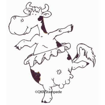 Dancing Cow Stamp