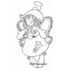 Cowgirl Angel Stamp