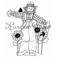 Sm Scarecrow and Sunflowers Stamp