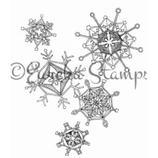 Group of Snowflakes Stamp