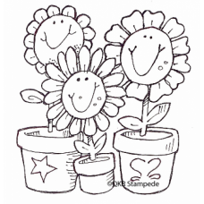 Smiling Flowers Stamp