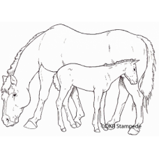 Mare and Foal Stamp