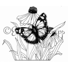 Butterfly & Sunflower Stamp