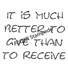 Better to Give Stamp