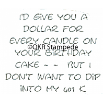 Birthday Candles Stamp