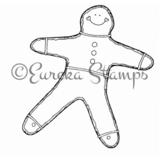 Lg Gingerbread Boy Stamp