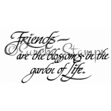 Friends are Blossoms Stamp