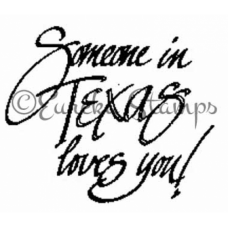Someone in Texas Loves You Stamp