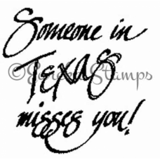 Someone in Texas Misses You Stamp