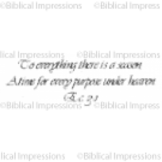 To Everything Unmounted Stamp
