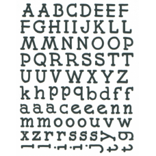 Alphabet Set Red Rubber Full Sheet Stamp