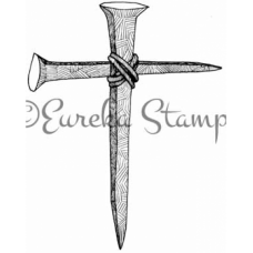 Lg Cross of Nails Stamp