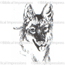 Wolf Head Unmounted Stamp