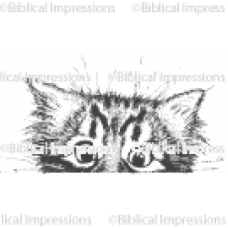 Crazy Kitty Set (Cat and Paws) Unmounted Stamp