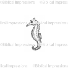 Baby Sea Horse Unmounted Stamp