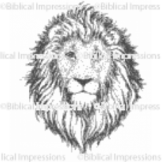 Lion Head Unmounted Stamp
