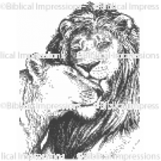 Lion Kiss Unmounted Stamp