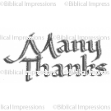 Many Thanks Unmounted Stamp