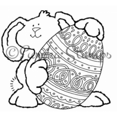 Lg Bunny with Egg Stamp