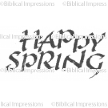 (437)  Happy Spring Unmounted Stamp