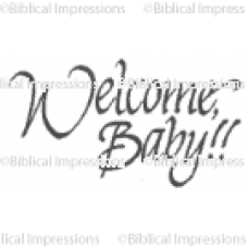 (431)  Welcome Baby Unmounted Stamp