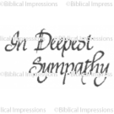 Deepest Sympathy Unmounted Stamp