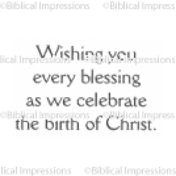 Wishing Christ Unmounted Stamp