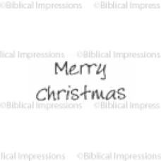 Merry Christmas Unmounted Stamp