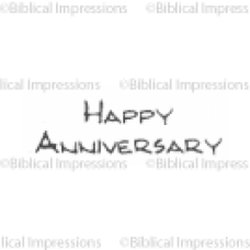 Happy Anniversary Unmounted Stamp